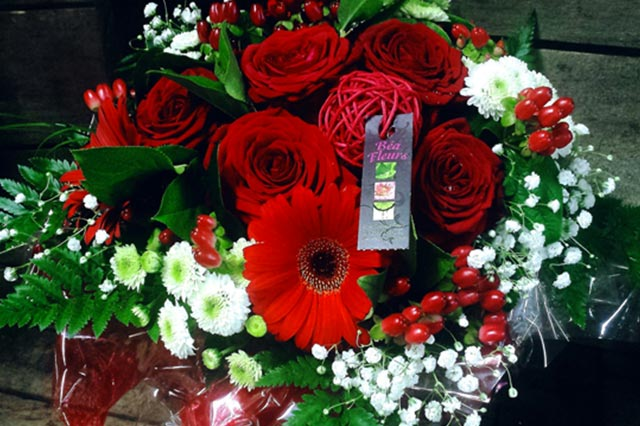 B a fleurs fleuriste nice livraison fleurs bouquet de for Bouquet de fleurs 123