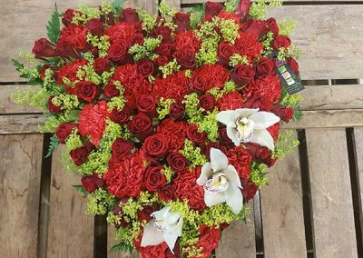 coeur-deuil-fleurs-rose-rouge