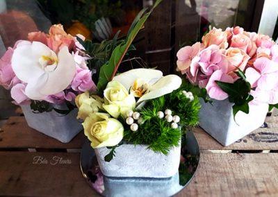 composition-fleurs-rose-pot