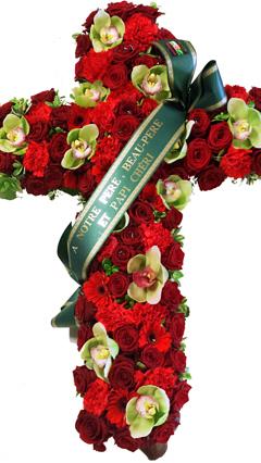 croix-fleurs-deuil-rouge