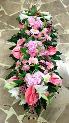 raquette-deuil-fleurs